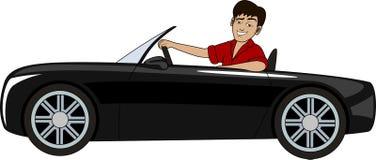 Ένα άτομο σε ένα αυτοκίνητο Στοκ εικόνα με δικαίωμα ελεύθερης χρήσης