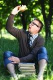 Ένα άτομο στα γυαλιά Στοκ Φωτογραφία
