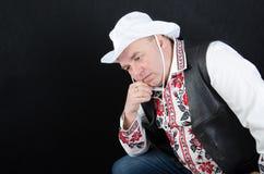 Ένα άτομο στο εθνικό κοστούμι Στοκ Εικόνες