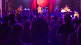 Ένα άτομο στο πλήθος συναυλίας ενάντια στα φω'τα Στοκ εικόνες με δικαίωμα ελεύθερης χρήσης