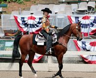 Ένα άτομο τρίτης ηλικίας οδηγά ένα άλογο Trotting στο άλογο φιλανθρωπίας Germantown παρουσιάζει Στοκ Φωτογραφία