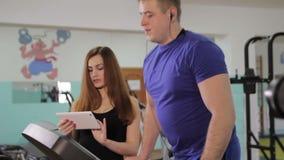 Ένα άτομο treadmill απόθεμα βίντεο