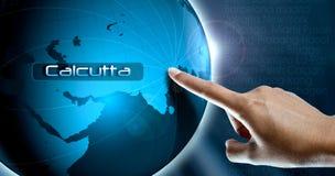 Ένα δάχτυλο γυναικών και μια σφαίρα, Καλκούτα Στοκ εικόνες με δικαίωμα ελεύθερης χρήσης