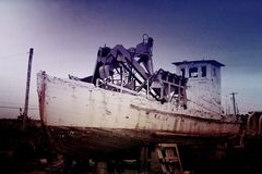 Ένα άλλο εγκαταλειμμένο σκάφος Στοκ Φωτογραφίες