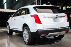 Ένα έκθεμα Cadillac XT5 σε το 2016 Νέα Υόρκη το διεθνές αυτόματο S Στοκ εικόνα με δικαίωμα ελεύθερης χρήσης