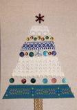 Ένα δέντρο καρτών Χριστουγέννων έκανε με τα χέρια σας Στοκ Εικόνα