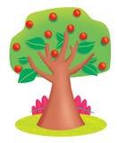 Ένα δέντρο το καλοκαίρι διανυσματική απεικόνιση