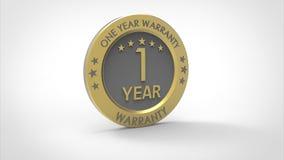 ένα έτος εξουσιοδότησης ελεύθερη απεικόνιση δικαιώματος