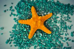 Ένα ή ένας καθορισμένος αστερίας πράσινες πέτρες Στοκ φωτογραφία με δικαίωμα ελεύθερης χρήσης