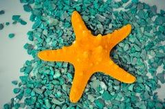 Ένα ή ένας καθορισμένος αστερίας πράσινες πέτρες Στοκ εικόνες με δικαίωμα ελεύθερης χρήσης