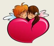 Αγόρι και κορίτσι ερωτευμένα Στοκ φωτογραφίες με δικαίωμα ελεύθερης χρήσης