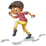Ένα αγόρι μετά από τα ίχνη διανυσματική απεικόνιση