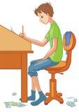 ένα αγόρι απεικόνιση αποθεμάτων