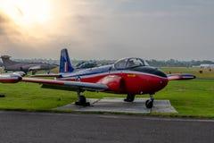 Ένα αεριωθούμενο αεροσκάφος εκπαιδευτών κοσμητόρων ΤΣΕ στοκ φωτογραφία με δικαίωμα ελεύθερης χρήσης