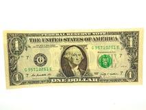 Ένα αμερικανικό δολάριο Μπιλ Στοκ φωτογραφία με δικαίωμα ελεύθερης χρήσης