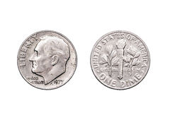 Ένα αμερικανικό νόμισμα δεκαρών Στοκ φωτογραφία με δικαίωμα ελεύθερης χρήσης