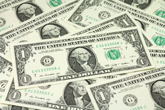 Ένα αμερικανικό υπόβαθρο δολαρίων τραπεζογραμματίων Στοκ Φωτογραφία