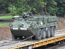 Ένα αμερικανικό Stryker τεθωρακισμένο όχημα μεταφοράς προσωπικό στοκ εικόνες
