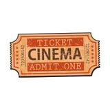 Ένα αναδρομικό ύφος, εκλεκτής ποιότητας κινηματογράφος, εισιτήριο κινηματογράφων απεικόνιση αποθεμάτων
