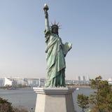 Ένα αντίγραφο του αγάλματος ελευθερίας στην περιοχή Odaiba, Τόκιο Στοκ Εικόνες
