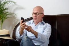 Ένα ανώτερο τηλέφωνο Στοκ εικόνα με δικαίωμα ελεύθερης χρήσης