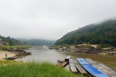 ένα από τα καλύτερα μέρη του mekong ποταμού: ο όμορφος, ζάλη Στοκ Εικόνα