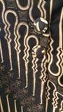 Ένα από τα της Ιάβας κλασικά σχέδια του μπατίκ Στοκ φωτογραφία με δικαίωμα ελεύθερης χρήσης