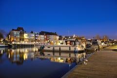 Ένα από τα όμορφα λιμάνια ευχαρίστησης στη Γάνδη στοκ εικόνα