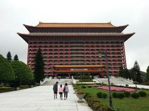 Ένα από το παγκόσμιο πιό ψηλό κινεζικό κλασσικό κτήριο - το μεγάλο ξενοδοχείο στη Ταϊπέι, Ταϊβάν Στοκ Φωτογραφία