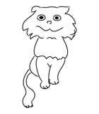 Ένα απλό σκίτσο μιας γάτας - που καλλωπίζει Στοκ Εικόνες