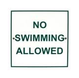 Καμία κολύμβηση δεν επέτρεψε το σημάδι Στοκ εικόνα με δικαίωμα ελεύθερης χρήσης