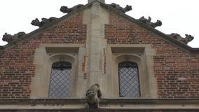 Ένα αρχαίο παράθυρο του αγγλικού παλατιού απόθεμα βίντεο