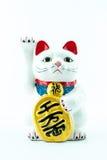 Ένα αρχαίο πολιτιστικό εικονίδιο από την Ιαπωνία και δημοφιλής - τυχερή γάτα Στοκ Εικόνες