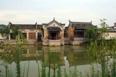 Ένα αρχαίο χωριό στην επαρχία Anhui, Κίνα Στοκ Φωτογραφία