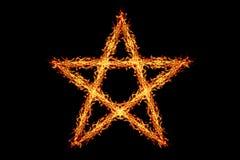 ένα αστέρι πυρκαγιάς που απομονώνεται στο Μαύρο Στοκ φωτογραφίες με δικαίωμα ελεύθερης χρήσης