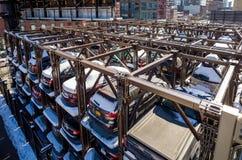 Ένα αυτοματοποιημένο σύστημα Νέα Υόρκη χώρων στάθμευσης αυτοκινήτων Στοκ εικόνες με δικαίωμα ελεύθερης χρήσης