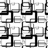 Ένα αφηρημένο σχέδιο των τετραγώνων με τις στρογγυλευμένες γωνίες Στοκ φωτογραφία με δικαίωμα ελεύθερης χρήσης