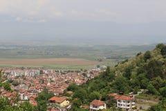 Ένα βουλγαρικό μέρος πόλεων από το από υψηλό στοκ εικόνες με δικαίωμα ελεύθερης χρήσης