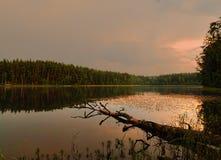 Ένα βράδυ είναι στη Λετονία το 2016 Στοκ φωτογραφία με δικαίωμα ελεύθερης χρήσης