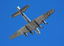 Ένα β-17G πετώντας βομβαρδιστικό αεροπλάνο φρουρίων, συναισθηματικό ταξίδι Στοκ φωτογραφία με δικαίωμα ελεύθερης χρήσης