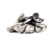 Ένα γάντι, πένσες και ένα κατσαβίδι Στοκ εικόνα με δικαίωμα ελεύθερης χρήσης