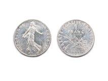 Ένα γαλλικό φράγκο 1999 Στοκ εικόνες με δικαίωμα ελεύθερης χρήσης