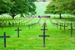 Ένα γερμανικό νεκροταφείο του παγκόσμιου πολέμου ένας στη Γαλλία στοκ εικόνες με δικαίωμα ελεύθερης χρήσης