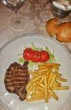 Ένα γεύμα μπριζόλας εστιατορίων Στοκ φωτογραφία με δικαίωμα ελεύθερης χρήσης