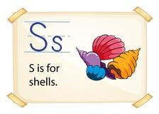 Ένα γράμμα S για τα κοχύλια ελεύθερη απεικόνιση δικαιώματος