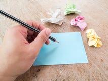 Ένα γράψιμο χεριών Στοκ Εικόνες