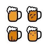 Ένα γυαλί του συνόλου μπύρας στοκ φωτογραφία
