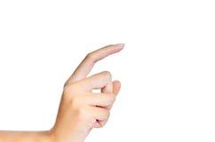 Ένα δάχτυλο Στοκ φωτογραφία με δικαίωμα ελεύθερης χρήσης