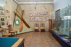 Ένα δωμάτιο που αφιερώνεται στην ιστορία αεροπορίας στο μουσείο-κτήμα του α Στοκ Εικόνες