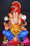 Ένα είδωλο του Λόρδου Ganesha, φεστιβάλ Ganapati, Pune, Maharashtra στοκ εικόνα